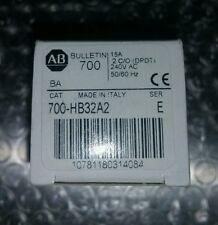 Allen Bradley Relay w/3 Option, Cat. 700-HB32A2 Ser. E, 2 C/O DPDT, 240V 50/60Hz