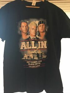 New All In Ppv Young Bucks Cody Rhodes Event T Shirt Size Xl Aew Wrestling Ebay