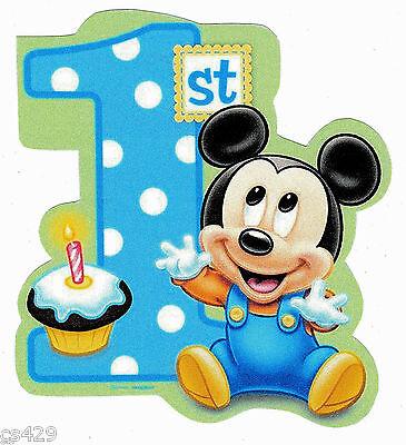 Baby Mickey Mouse 1st Birthday.4 Disney Babies Baby Mickey Mouse 1st Birthday Heat Transfer Iron On Ebay
