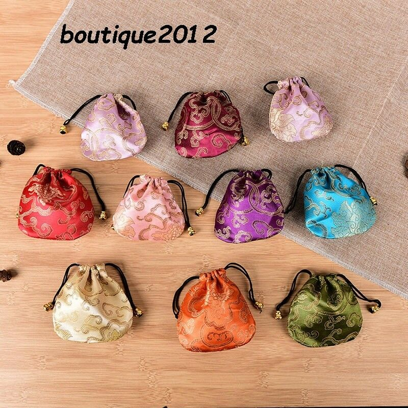 Chinese Silk Coin Small Nik Nak Purse Available In Various Colours Jewellery