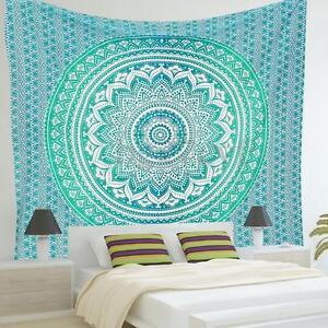 Blue Print Mandala Beach Tapestry Wall Hanging Blanket
