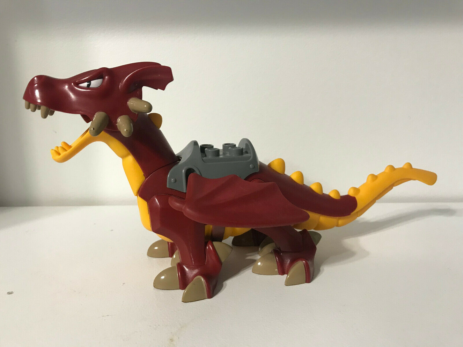 Lego Duplo Dragon Animal Large Dark rot Gold Rare Collectible Excellent RARE