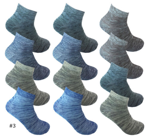 Men/'s 12 Pairs Athletic Sports Low Cut Quarter Ankle Crew Cotton Thin Socks Lot