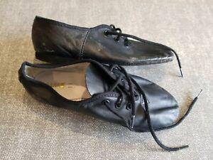Bloch-size-11-infant-black-leather-lace-up-dance-shoes