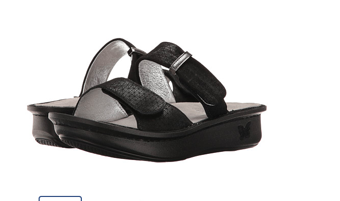 NEW Alegria Leather Double BLACKWAVY Strap Slide Sandals KARMEN BLACKWAVY Double  8 - 8.5 Euro 38 c26dbc