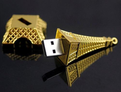 Metal Eiffel Tower Model USB 2.0 Flash Memory Pen Drive Stick Storage 4//16//32GB