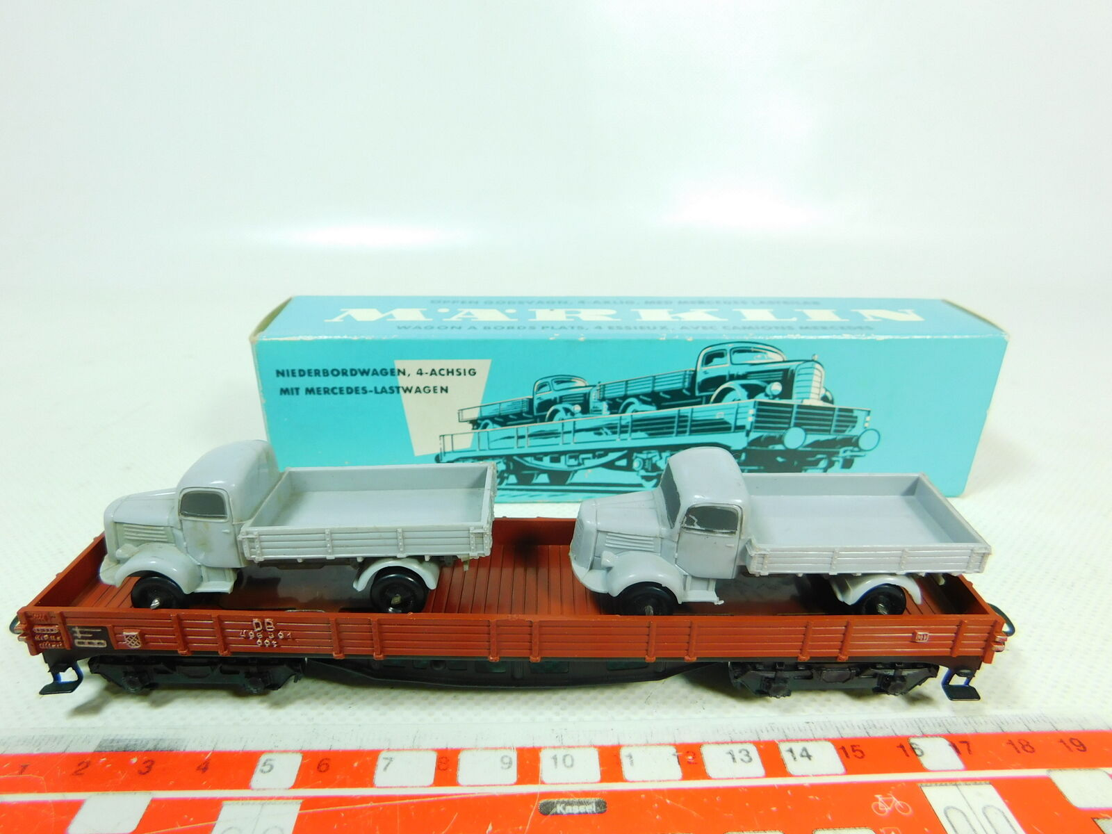 Bt572-0, 5 Märklin h0 ac 4515 (391 2) without wagon sides with 2 lorry MB