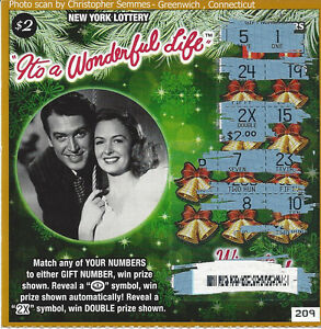 It's A Wonderful Life Watch >> It's A Wonderful Life $2.00 Donna Reed/Jimmy Stewart NY losing lottery ticket | eBay