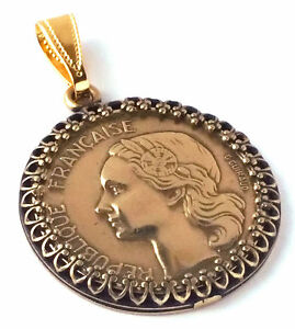 France-Jewelry-20-Francs-Coin-Pendant-French-Coin-Jewelry-France-Coin-World-Coin