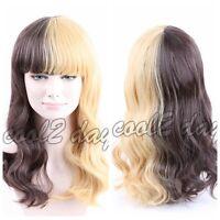 Fashion Melanie Martinez Wig Half Blonde And Black Culy Cosplay Wigs Women's
