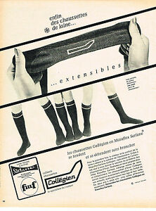 PUBLICITE-ADVERTISING-1966-COLLEGIEN-chaussettes-extensibles