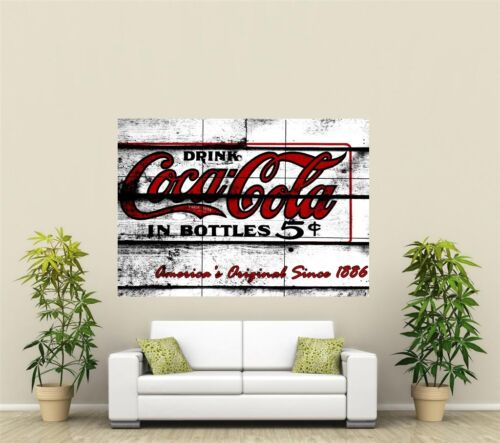 Vintage Coca-Cola  Giant XL Section Wall Art Poster L102