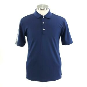 Adidas-Climacool-Mens-Small-Blue-Short-Sleeve-Polo-Golf-Shirt