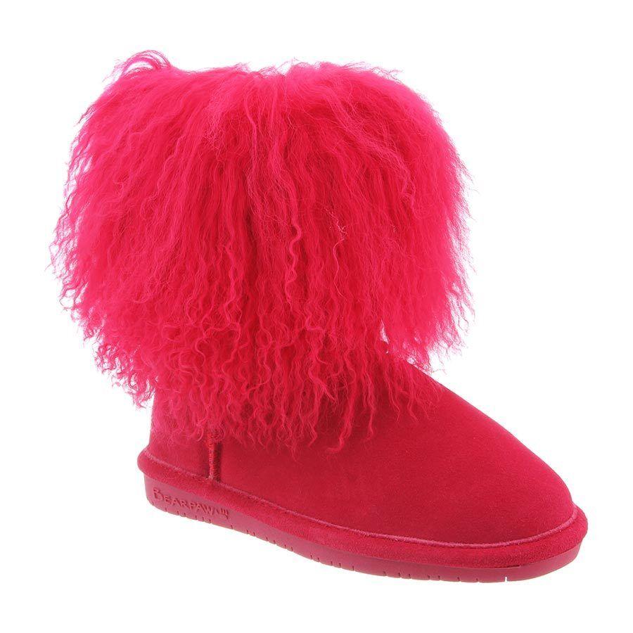 Bearpaw Boo Youth - Kid's Fuzzy Bo Electric/Pink - 2 M US Little Kid