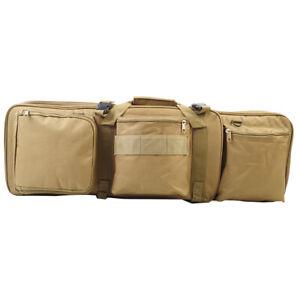 2X Molle Tactical Magazine Dump Drop Pouch Gun Mag Ammo Bag Airsoft Hunting Tan