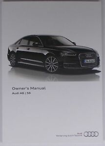 new genuine audi a6 s6 saloon owners manual handbook 11 2014 rh ebay ie 2014 audi a6 tdi owners manual 2014 audi a6 tdi owners manual