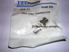 Pomona Electronics 4119 75 Bnc Feed Through Termination Mf
