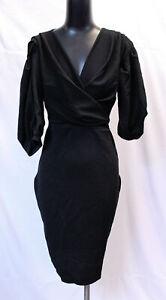 Boohoo-Women-039-s-Plus-Off-The-Shoulder-Wrap-Midi-Dress-SC4-Black-Size-US-14-UK-18