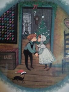 7693cc3be838b Details about P Buckley Moss Under the Mistletoe sold out rare print  unframed