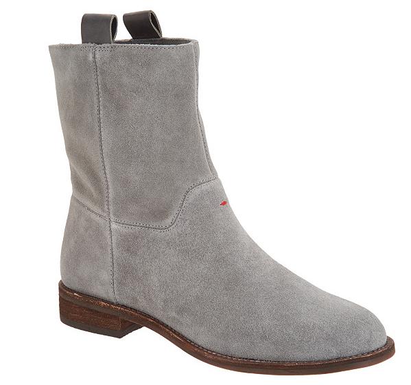 Edición Ellen DeGeneres Cuero Tobillo botas botas botas Sebring gris Botines para mujer 7 Pompeya 45dbf0