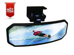 Universal Marine Mirror 2.5x8 inch Boat Ski Water Large Rear View Easily Attache