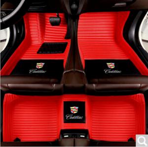 Fit Cadillac 2004-2020 All Model Luxury Carpets Trunk Waterproof Car Floor Mats