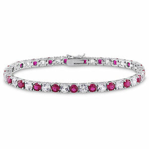 Amour-Sterling-Silver-Created-White-Sapphire-and-Ruby-Tennis-Bracelet