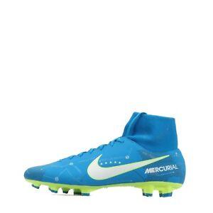 Nike Mercurial Victory VI DF NJR Homme Football Ferme Sol Bottes Bleu/Blanc
