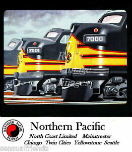 Northern-Pacific-Railroad-F-9-North-Coast-Limited-Ad-Travel-Poster-1950-Train