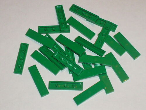 Green tiles 1 x 4 LEGO ref 2431 Lot 25 plaques fines lisses vertes 25 pieces
