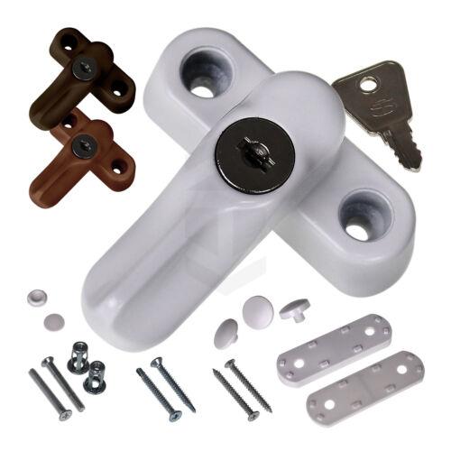 Premium Key Locking Sash Jammer UPVC Window Door Lock Security Arm Blocker