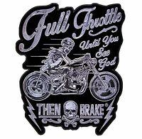 Full Throttle Until You See God Then Brake Motorcycle Biker Patch Medium