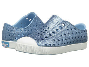 959820547f7a NIB Native Kids Jefferson Bling Glitter Girls Slip On Sneakers Shoes ...