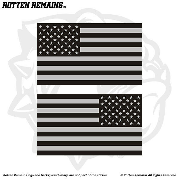"""One piece American flag car sticker decal 3/""""x5/"""" Military tactial USA Vinyl"""