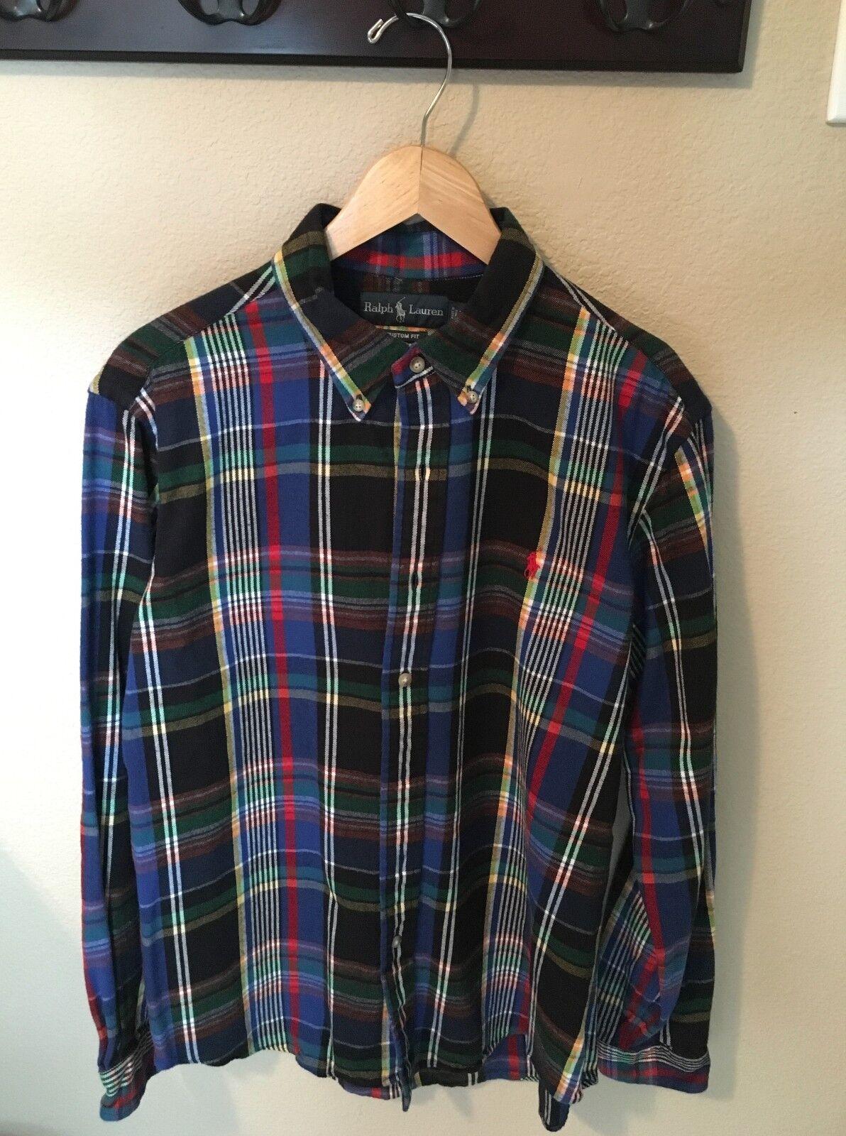 b0ce618c7 Polo Lauren Flannel Size Large Plaid Ralph nrshsc234-Casual Button-Down  Shirts