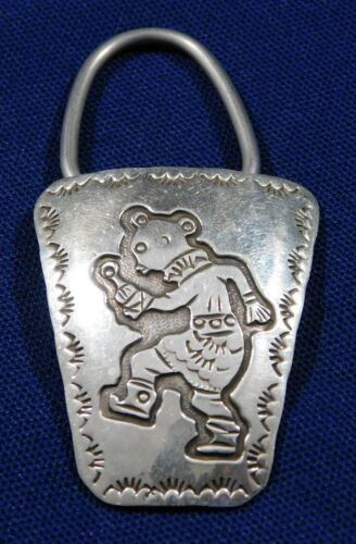 NAVAJO HT STERLING Cut Out Overlay HANDMADE Vintag