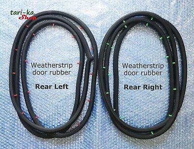 Weatherstrip Door Rubber Seal Set for 72-76 Toyota Corona Mark II RX12 Sedan