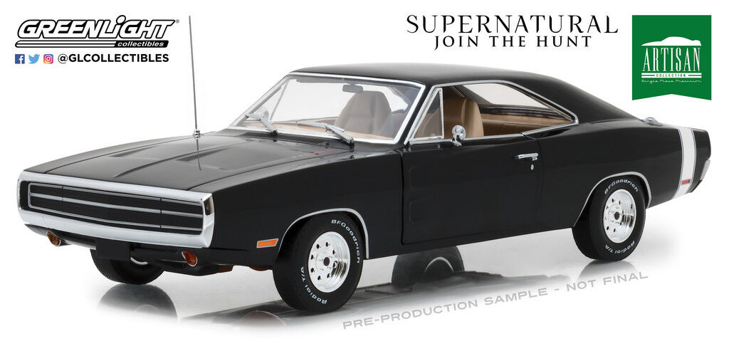 Greenlight 19046 1 18 Scale Supernatural Join the Hunt 1970 Dodge Charger New
