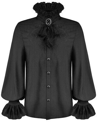 Devil Fashion Mens Gothic Shirt White Steampunk Victorian Vampire /& Lace Cravat