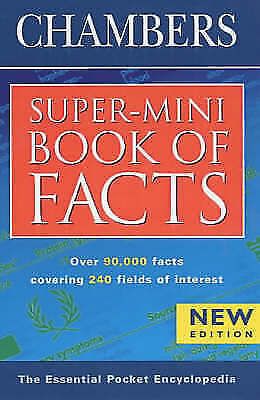 Chambers, Chambers Super-mini Book of Facts, Very Good Book
