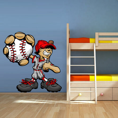 Full Color Wall Vinyl Sticker Decals Baseball Player Boy Pitcher Col104