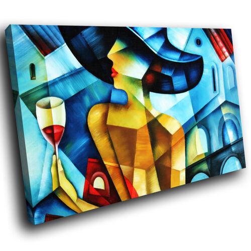 E086 Coloré Abstrait Femme Moderne Rétro Toile Wall Art Photos Grand Imprime
