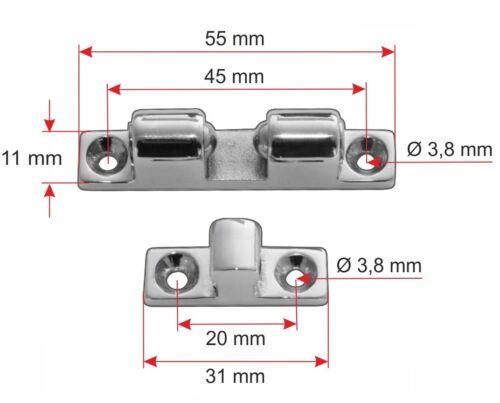 Riegelverschluss Vorreiber Kugelschnäpper Fensterriegel  V4A A4 Edelstahl