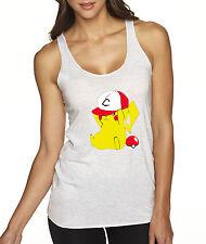 New Way 522 - Women's Tank-Top Pikachu Trainer Hat Pokeball Pokemon GO
