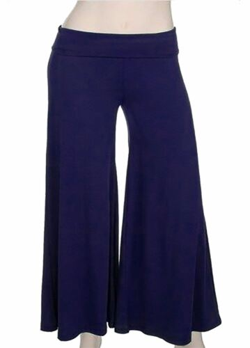 Childrens Wide Leg Flared Plain Pant Trouser Kids Stretch Party Wear Palazzo