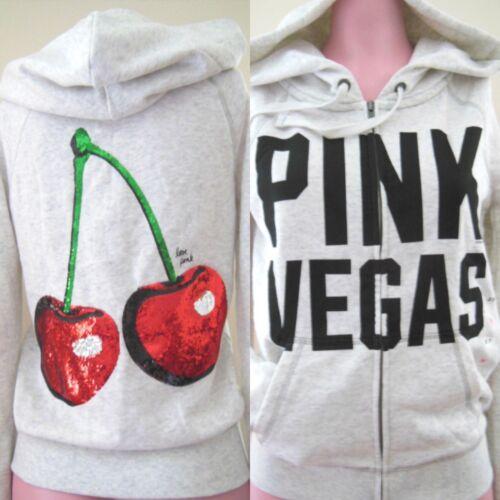 Sequin Zipup Doux Cozy Cerise À Secret Victoria Vegas Bn Bling Pink Capuche Sweater BzqcH