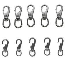 "2PC BLACK Aluminum Carabiner Snap Hooks Key chain 3-1//4"""