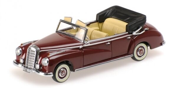 Mercedes Benz 300 300 300 Cabriolet W186 Dark rouge 1952 1 43 Model MINICHAMPS e9de11