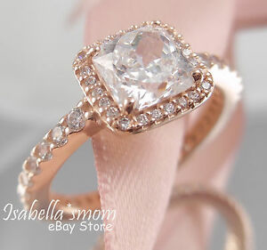 a4046066a3a Details about TIMELESS ELEGANCE Authentic PANDORA Rose GOLD Plated Ring 7.5  (56) 180947CZ NEW