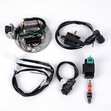 CHGO Kick Start Dirt Pit Bike Wire Harness Wiring Loom CDI Ignition Coil Magneto Spark Plug Rebuild Kit for 50cc-125cc